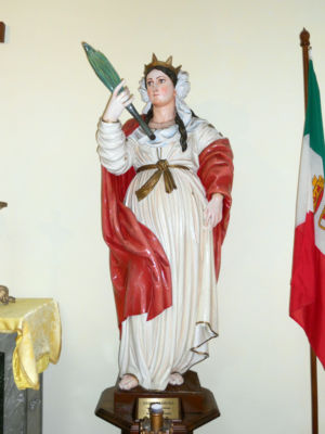 0024 Chiesa S.Barbara Presso La Direzione Munizionamento MM-Particoilare-Statua S.Barbara.