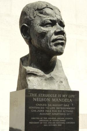 050 Nelson Mandela Bust. Royal Festival Hall. Southbank. 26.04.2019