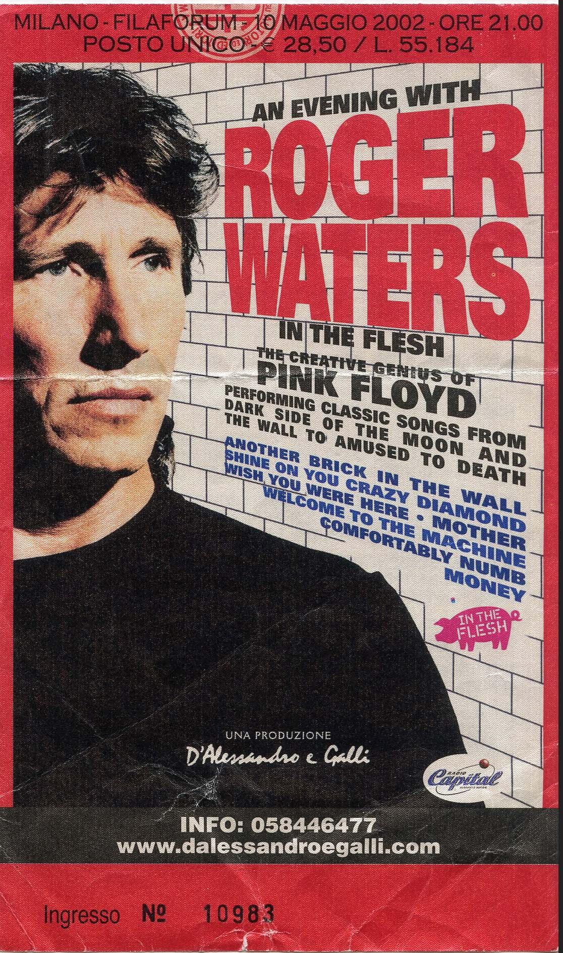 Roger Waters 10.05.2002, Assago (Mi), Filaforum
