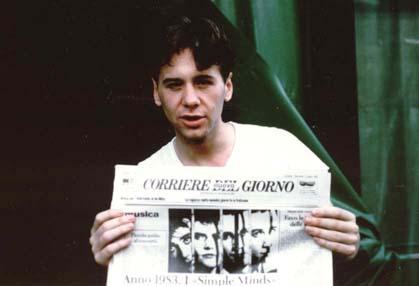 Jim Kerr col Corriere web