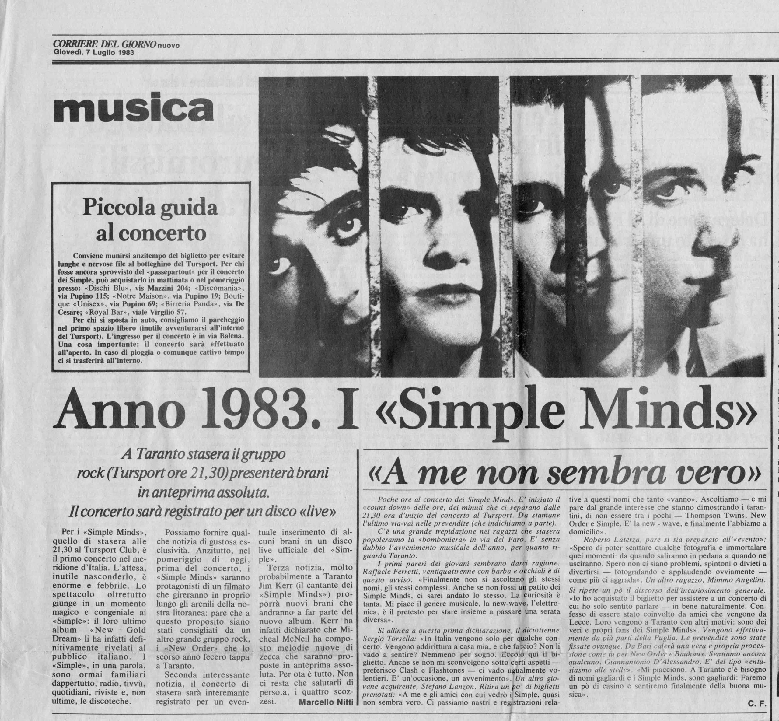 07.07.1983.  Anno 1983: i Simple Minds.